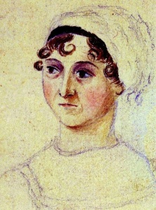 Detail of Jane Austen Portrait. Wikimedia Commons.